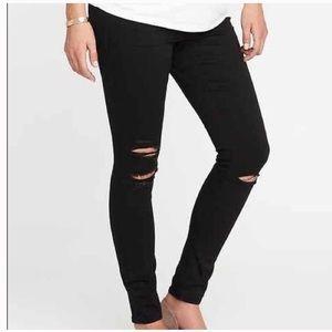 Gap True Skinny Frayed Distressed Maternity Jeans